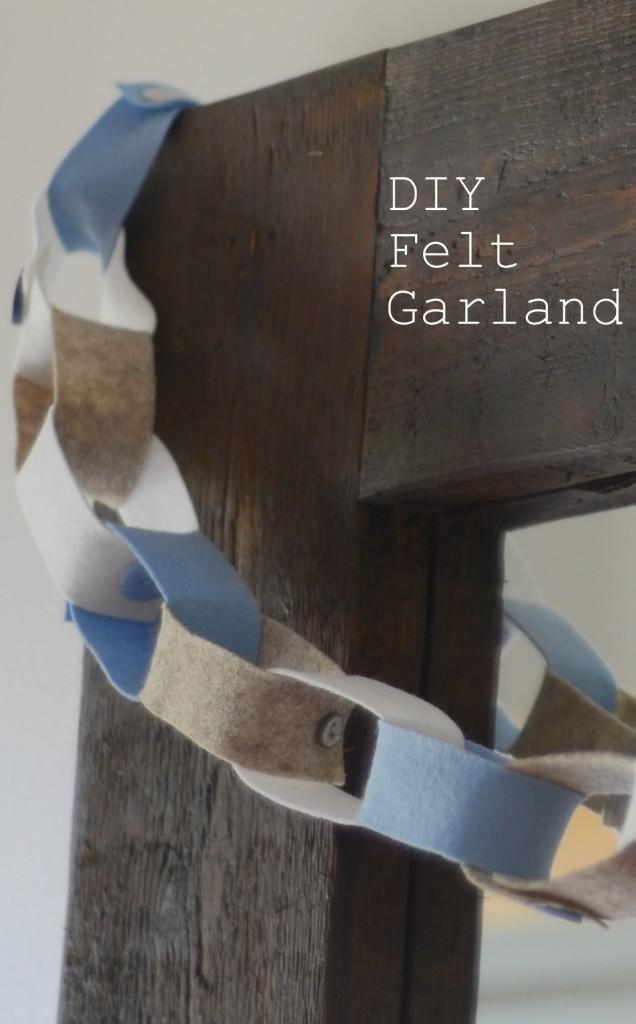 DIY Felt Garland The Oliver\\\'s Madhouse