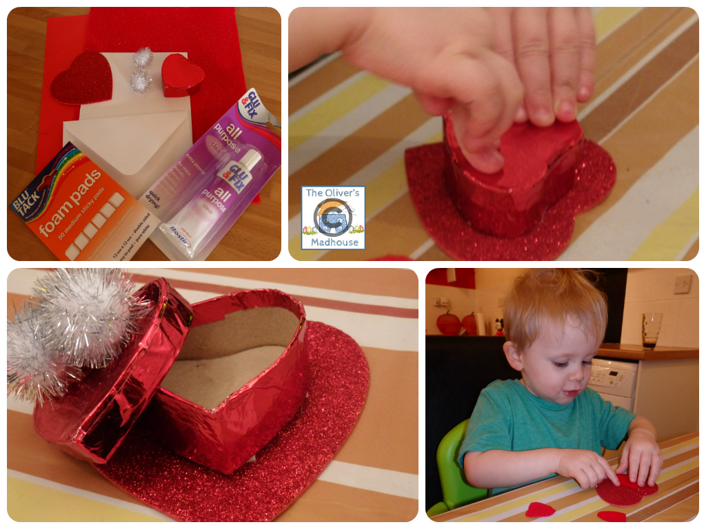 Beginning Our Crafting Journey With Bostik - Valentines Cards The Oliver\\\'s Madhouse