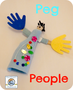Peg People & Pipe Cleaner Bracelets The Oliver\\\'s Madhouse