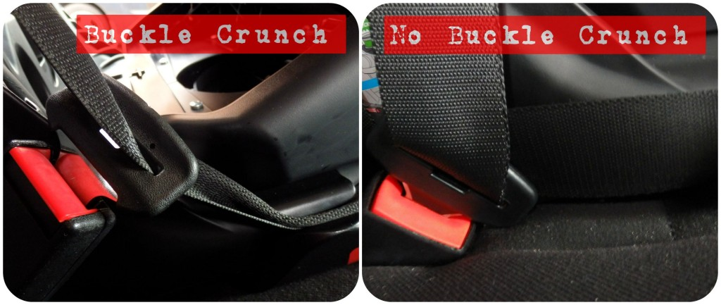 buckle crunch on a car seat