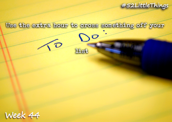#52LittleThings Week 44 - Cross Something Of Your List The Oliver\\\'s Madhouse