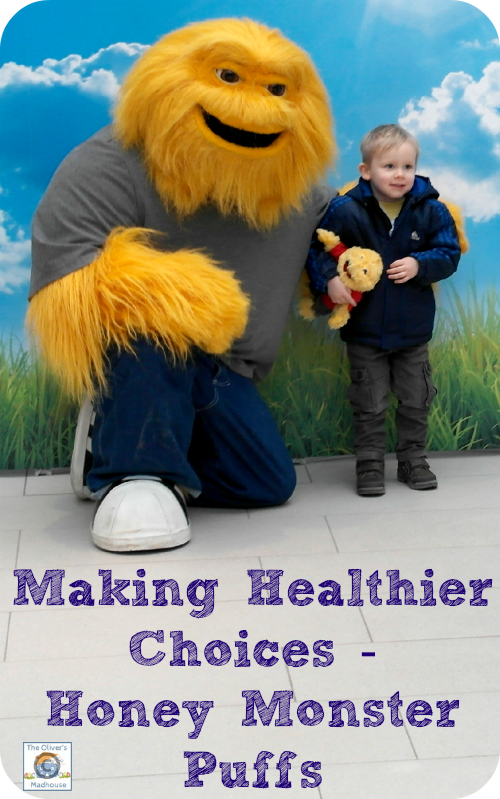 Making Healthier Choices - Honey Monster Puffs The Oliver\\\'s Madhouse