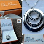 Personalised Sterling Silver Eternity Trio Merci Maman Necklace Review & Giveaway (Giveaway Now Closed)