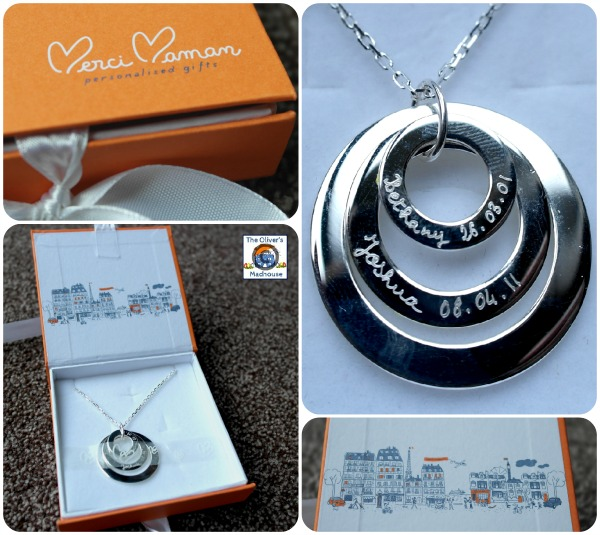 Personalised Sterling Silver Eternity Trio Merci Maman Necklace Review & Giveaway (Giveaway Now Closed) The Oliver\\\'s Madhouse