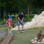 cup challenge playing crazy golf