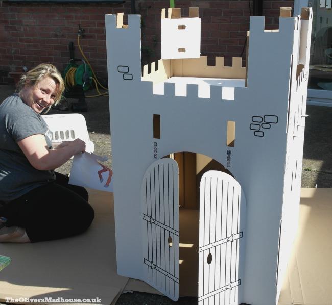 building a cardboard castle