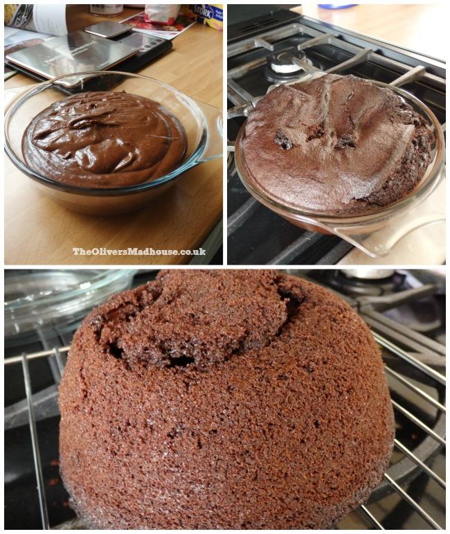 making air fryer cake