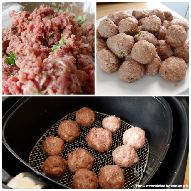 making meatballs