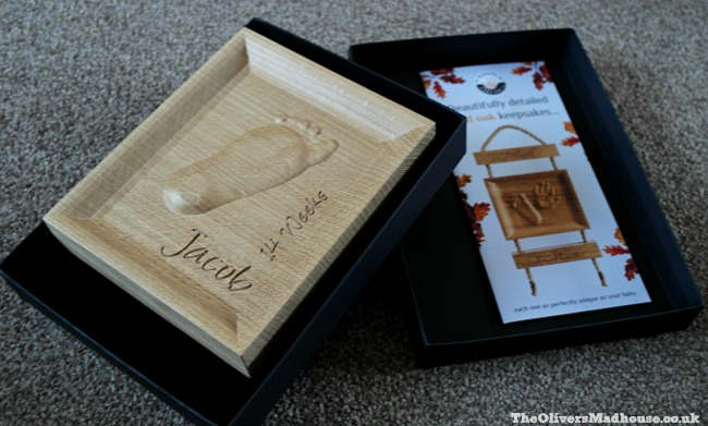 Solid Oak Keepsakes By Handprint Carving Co - A Review The Oliver\\\'s Madhouse