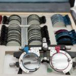 Medical trial lens transport case with lenses