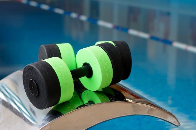 Aqua Aerobics Dumbbells. Water Aerobics.