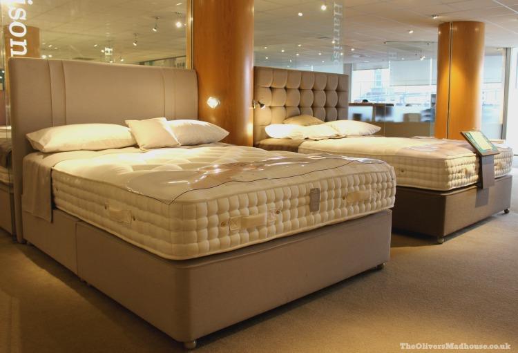 beds in a showroom