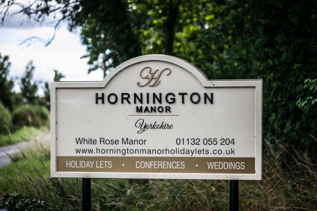Hornington manor signage