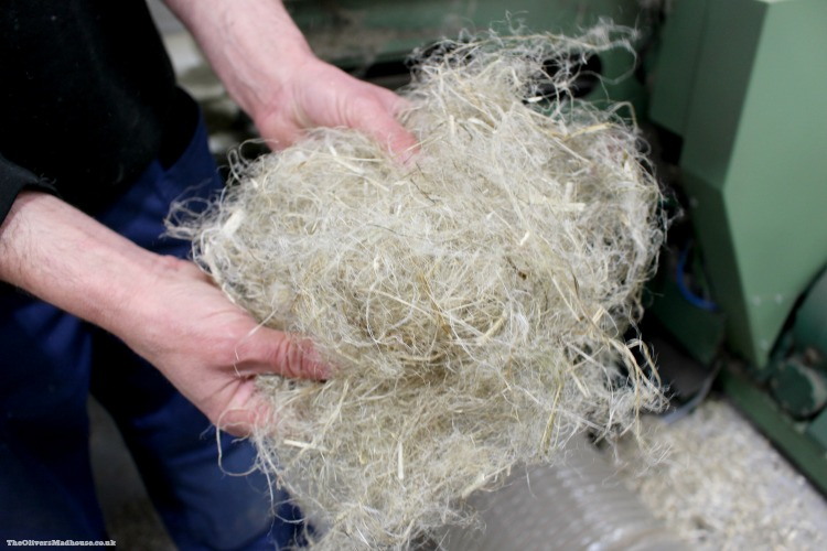 hemp being processed for mattresses