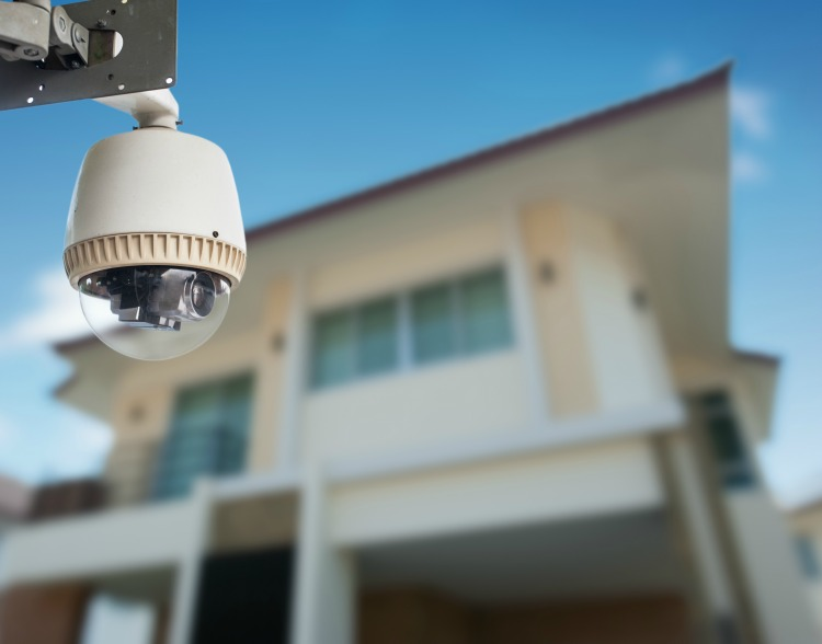 CCTV Camera with house in background