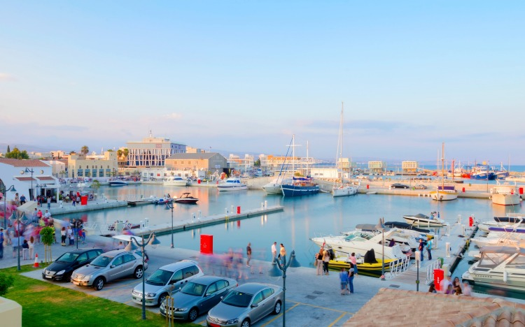The beautiful Marina in Limassol city in Cyprus. A very modern, high end and newly developed area where yachts are moored and it's perfect for a waterfront promenade. A gem of the Mediterranean.