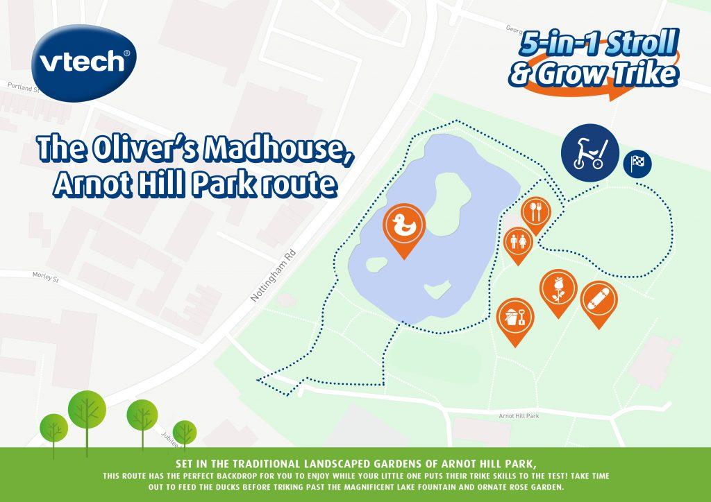 Our VTech Tour De Trike Route - Nottingham The Oliver\\\'s Madhouse