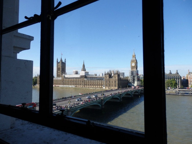 view of big ben in london from the county hall building