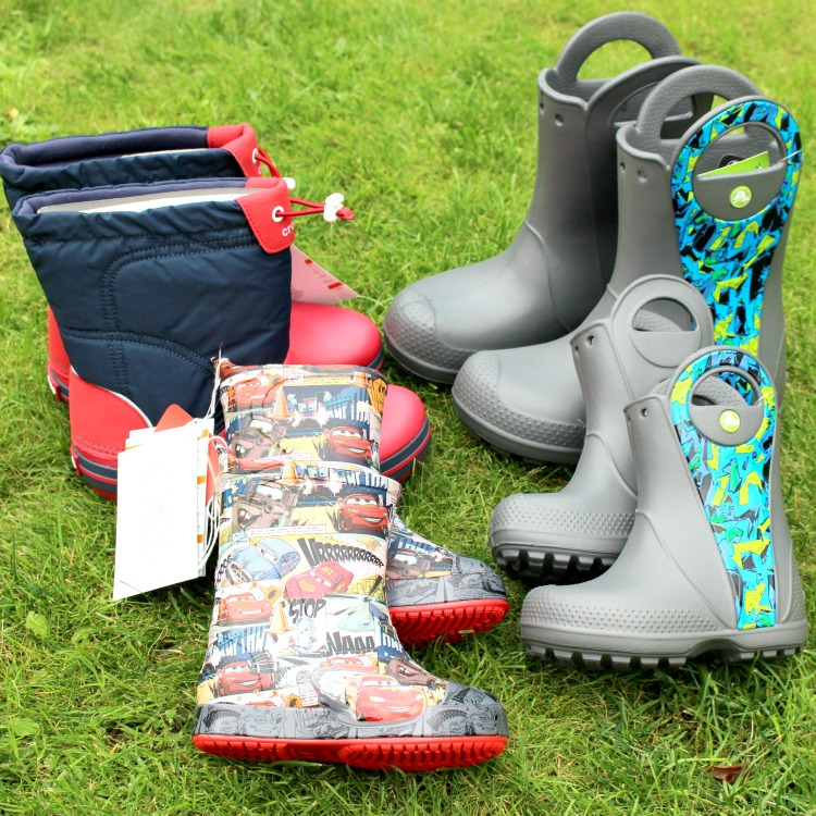 31045f77e Having Winter Covered With Crocs Wellies