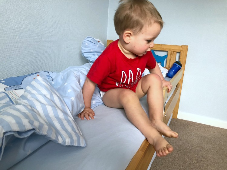 The Transition Between Cot & Toddler Bed - The First Night The Oliver\\\'s Madhouse