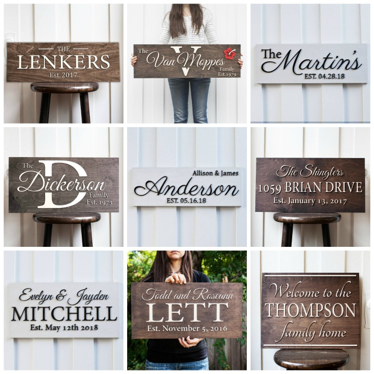 Personalised Signs From Gifted Occasion + Worldwide Giveaway The Oliver\\\'s Madhouse