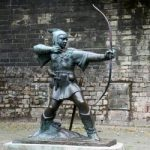 Statue Of Robin Hood at Nottingham Castle, Nottingham, UK